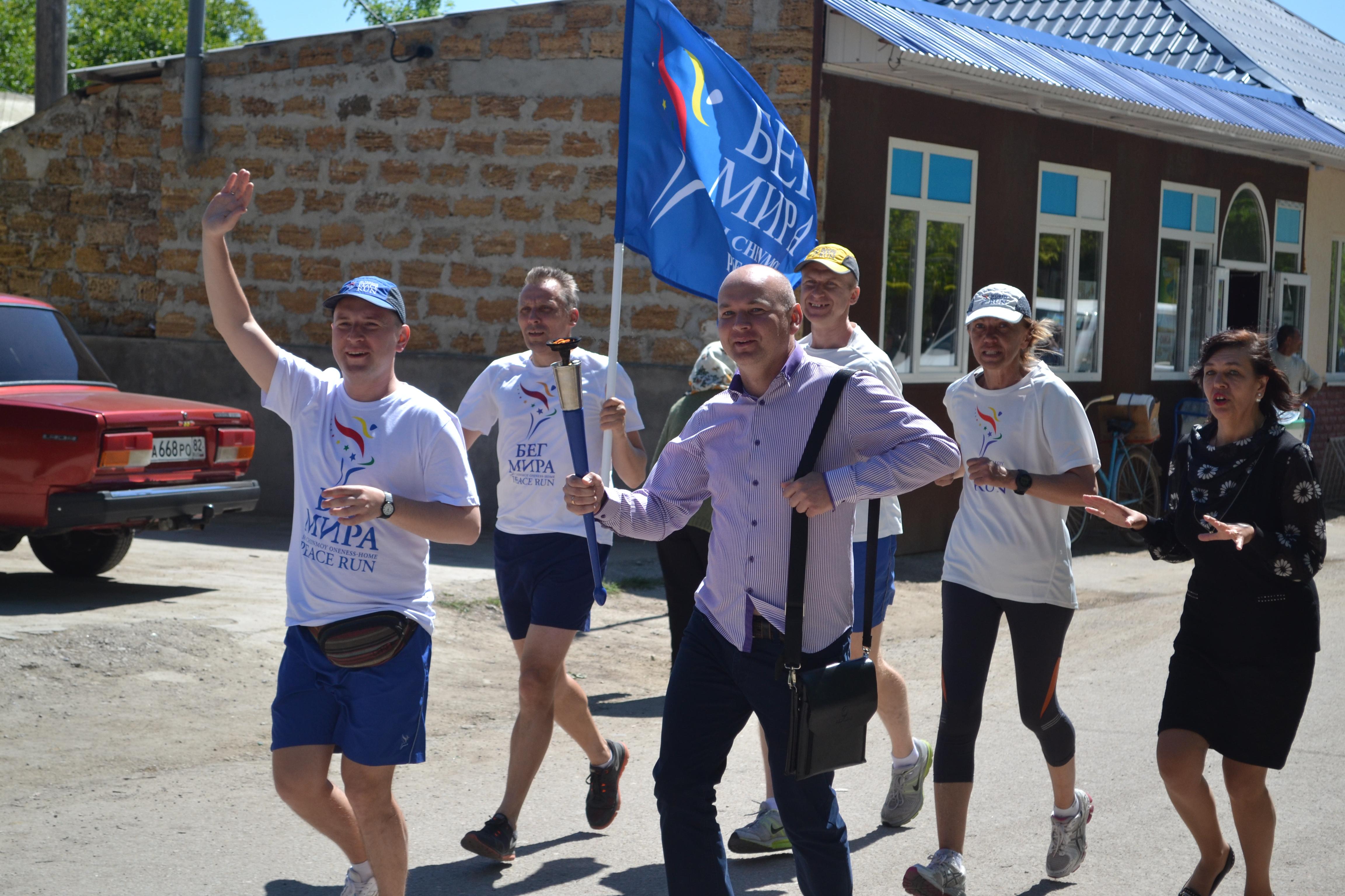 Джанкойский район приветствовал участников Международной факельной эстафеты «Бег мира»